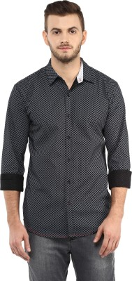 Spykar Mens Printed Casual Black Shirt