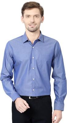 Van Heusen Men's Solid Formal Blue Shirt