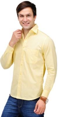VDE Men's Solid Formal Yellow Shirt