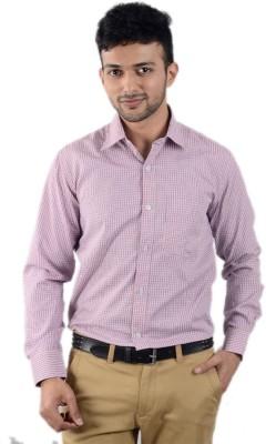 Cody Men's Checkered Formal Red, Blue Shirt