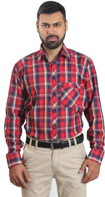 The Standard Men's Checkered Formal Red Shirt