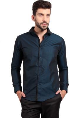 SOLEMIO Men's Solid Casual Blue Shirt