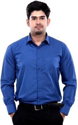 RPB Men's Solid Casual Blue Shirt