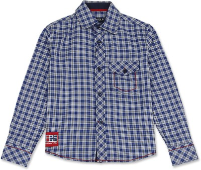 London Fog Kids Boy's Checkered Casual Blue Shirt