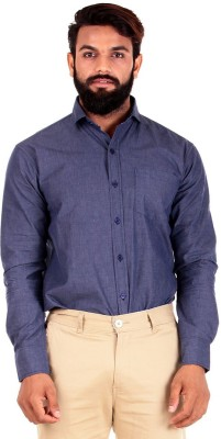 The G Street Men's Printed Casual Dark Blue Shirt