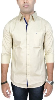 Southbay Men's Solid Casual, Party, Lounge Wear Beige Shirt