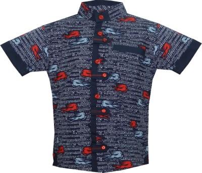 JBN Creation Boy's Graphic Print Casual Blue, Red Shirt
