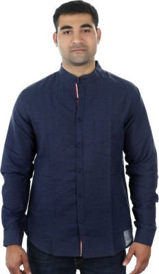 I cube club Men's Solid Casual Blue Shirt