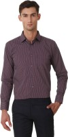 Threadroots Formal Shirts (Men's) - Threadroots Men's Checkered Formal White, Red Shirt