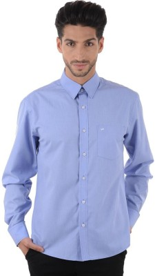 Cotton Clubs Men,s Solid Formal Blue Shirt