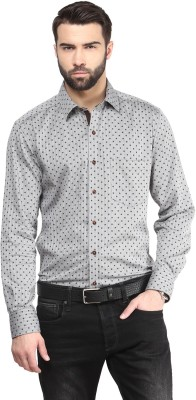 FUNK Men's Printed Casual Grey Shirt