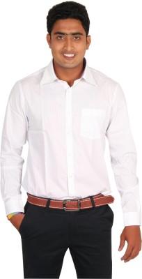 Value Attire Men's Striped Formal Beige Shirt
