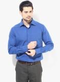 Regal Fit Men's Solid Formal Blue Shirt