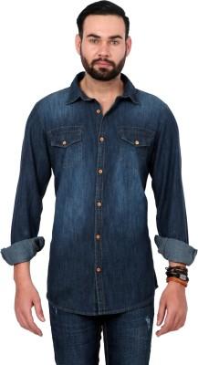 Urban Republic Men's Solid Casual Blue Shirt