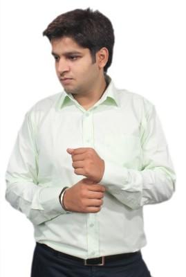 Jeffrey Rozers Men's Solid Formal Light Green Shirt