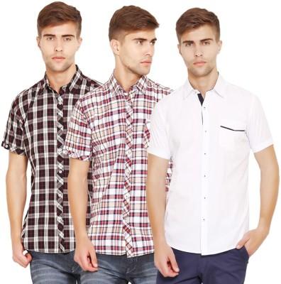 Wajbee Men's Checkered Casual Multicolor Shirt
