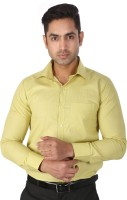 Regza Formal Shirts (Men's) - Regza Men's Checkered Formal Light Green Shirt