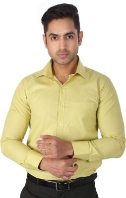 Regza Men's Checkered Formal Light Green Shirt