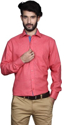 Yorkshire Men's Solid Formal Red Shirt