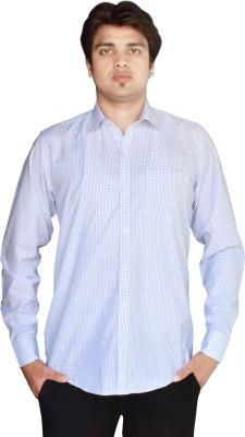 Kartier Men's Checkered Casual Green Shirt