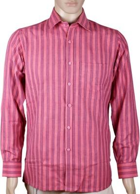 GRAMINSRISHTI Men's Woven Formal Pink Shirt