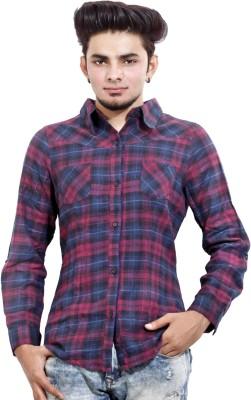 MagPie Men's Self Design Formal Multicolor Shirt