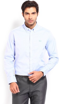Nord51 Men's Solid Casual Blue Shirt