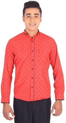 Henry Spark Men's Solid Casual Red Shirt