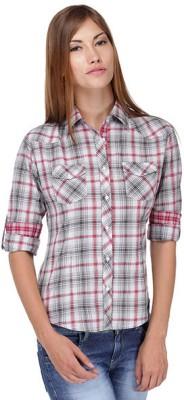 Yepme Women's Casual Pink, Grey Shirt at flipkart