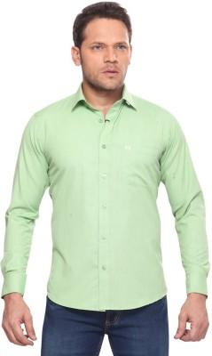 Club Fox Men,s Solid Casual Green Shirt