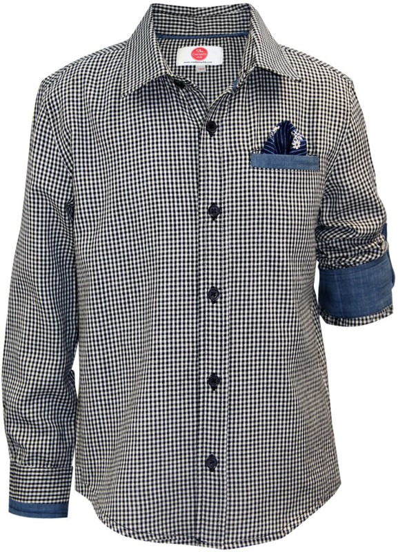 The Cranberry Club Men's Checkered Party Multicolor Shirt