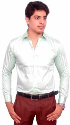 Rose Wear Men's Solid Formal Light Green Shirt