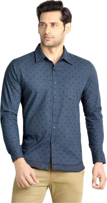 London Bee Men's Checkered Casual Blue Shirt