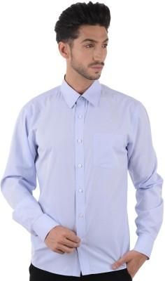 Cotton Clubs Men's Solid Formal Blue, Light Blue Shirt