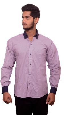 Signore Men's Self Design Casual Multicolor Shirt