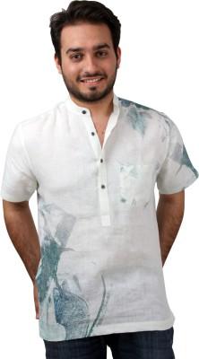Bali Hai Men's Printed Casual White, Multicolor Shirt
