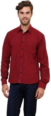 Lemon & Vodka Men's Checkered Casual Red Shirt