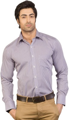 Eden Elliot Men's Checkered Formal Multicolor Shirt