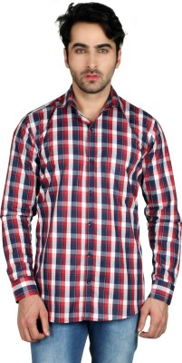 Being Friends Men's Printed Casual Red, Blue Shirt