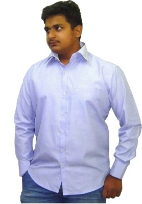 Fairly Men's Solid Formal Blue Shirt