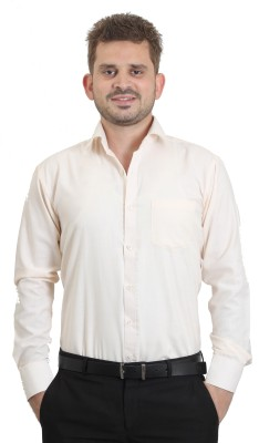 The Standard Men's Solid Casual White Shirt