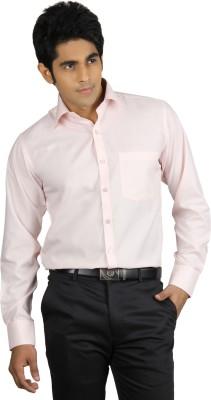 Finder Zone Men's Solid Formal Pink Shirt