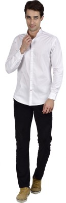 Zid Clothing Men's Solid Casual White Shirt