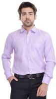 Blue Bird Formal Shirts (Men's) - Blue Bird Men's Self Design Formal Linen Pink Shirt