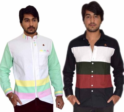 PP Shirts Men's Solid Casual Multicolor Shirt