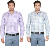 Don Vino Men's Checkered Casual Yellow, ...