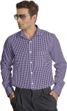 Willmohr Men's Checkered Casual Purple S...