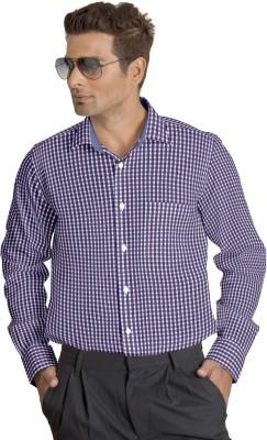 Willmohr Men's Checkered Casual Purple Shirt