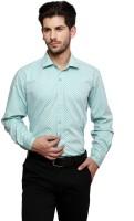 Thousand Shades Formal Shirts (Men's) - Thousand Shades Men's Checkered Formal Light Green Shirt