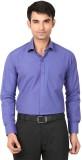 Coffee Bean Men's Solid Formal Blue Shir...